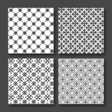 简单和优美的花卉样式设计模板,典雅的lineart黑白设计,象例证 现代Banne 免版税库存照片