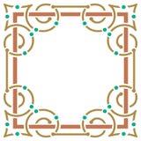 简单和典雅的五颜六色的框架 免版税图库摄影