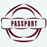 简单和有用的徽章护照 免版税库存照片