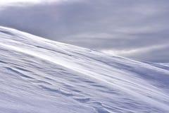 简单派风景冬天斯诺伊背景 免版税库存照片