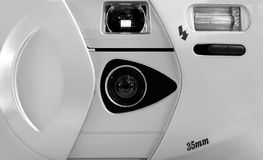 简单照相机的影片 库存照片