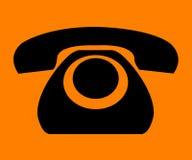 简单电话减速火箭的符号 免版税库存照片