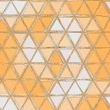 简单的三角样式,包括橙色和白色三角的抽象背景 皇族释放例证