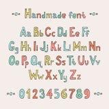 简单的五颜六色的手拉的字体 完成abc 库存照片