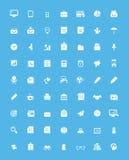 简单的企业和办公室象集合 免版税库存图片