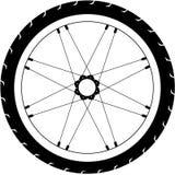 简单的传染媒介自行车轮子例证 免版税库存图片