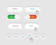 简单的传染媒介按钮 免版税图库摄影