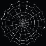 简单的动画片蜘蛛网 库存图片