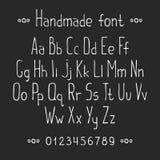 简单的单色手拉的字体 完成abc 免版税库存照片