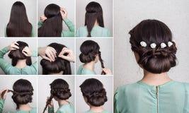 简单的发型自已讲解 图库摄影