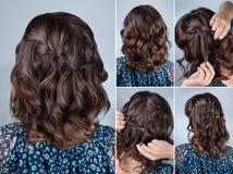 简单的发型讲解 免版税库存图片