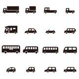 简单的各种各样的汽车象 库存图片
