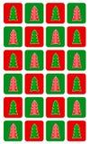 简单的圣诞树无缝的样式 免版税库存照片