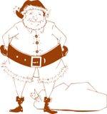 简单的圣诞老人 库存图片