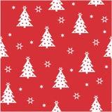 简单的圣诞节无缝的样式 皇族释放例证