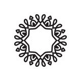 简单的坛场形状 徽标 库存例证