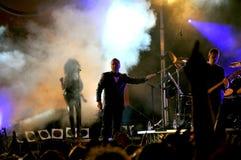 简单的头脑音乐会在意大利 免版税库存图片