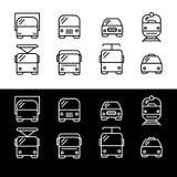 简单的套运输象 免版税库存图片