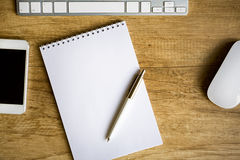 简单的工作区 免版税库存图片
