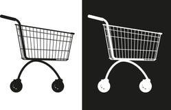 简单的市场推车 免版税图库摄影
