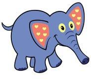 简单的幼稚大象 库存照片