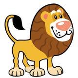 简单的幼稚狮子 免版税库存照片