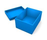 简单的开放配件箱 库存图片