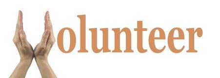 简单的志愿横幅 库存照片