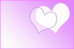 简单的情人节背景 免版税库存照片