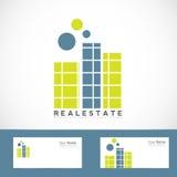 简单的房地产商标 库存例证