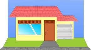 简单的房子场面  免版税图库摄影