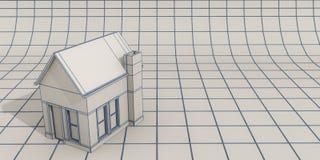 简单的房子模型 免版税库存图片