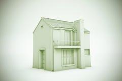 简单的房子模型 免版税库存照片