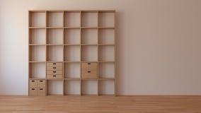 简单的房间001/3d翻译 图库摄影