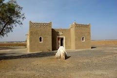 简单的旅馆在沙漠,撒哈拉大沙漠,摩洛哥 库存照片