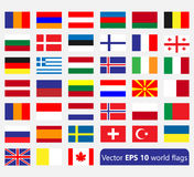 简单的旗子 免版税库存照片