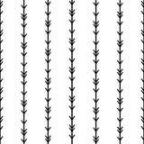 简单的无缝的种族箭头镶边样式传染媒介背景抽象派葡萄酒减速火箭的boho样式当地美洲印第安人tradit 向量例证