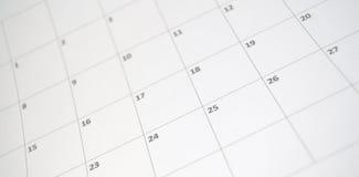 简单的日历 免版税图库摄影