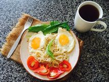 简单的早晨早餐 库存图片
