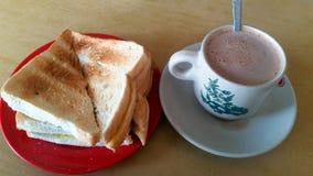 简单的早餐 免版税库存图片