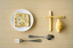 简单的早餐 图库摄影