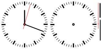 简单的时钟 免版税库存图片