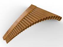 简单的木平底锅长笛 库存图片