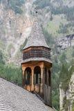简单的木教会在奥地利 库存照片