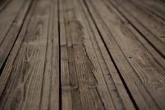 简单的木表面透视 库存照片