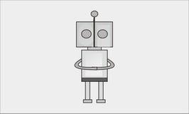 简单的机器人 免版税图库摄影