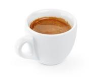 简单的杯子在杯子的双重浓咖啡 免版税库存图片