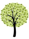 简单的树传染媒介 库存图片