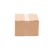 简单的棕色纸盒箱子 免版税图库摄影