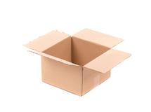 简单的棕色纸盒箱子 免版税库存图片